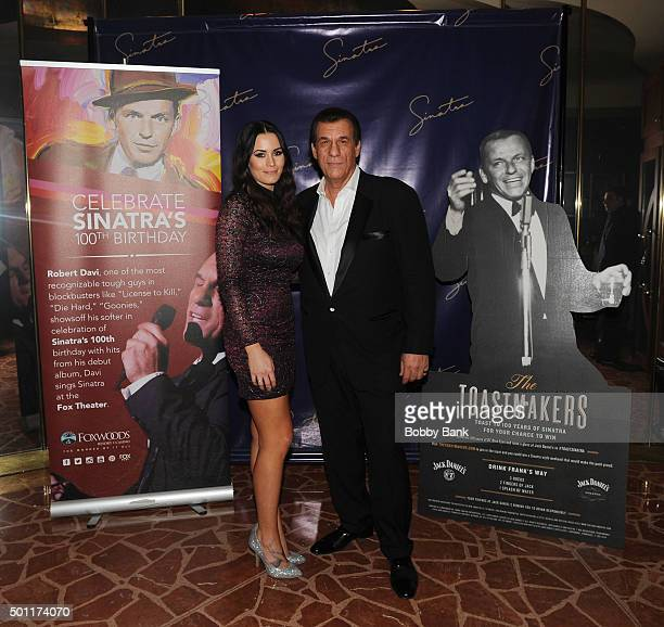Singer/actor Robert Davi and his daughter Ariana Marie Davi at the 'Sinatra Tribute' dinner at Al Dente restaurant to Celebrate Sinatra's 100th...