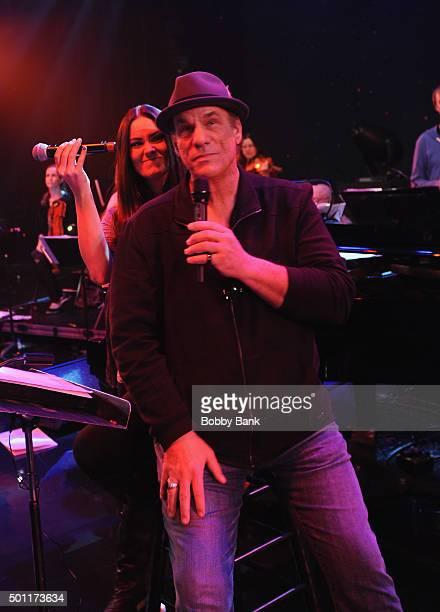Singer/actor Robert Davi and his daughter Ariana Marie Davi perform Celebrate Sinatra's 100th Birthday With Robert Davi at Foxwoods Resort Casino on...