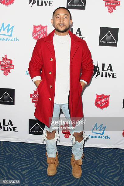 Singer/Actor Tahj Mowry attends the Salvation Army's 6th annual Rock The Red Kettle concertat held at LA LIVE on December 5 2015 in Los Angeles...