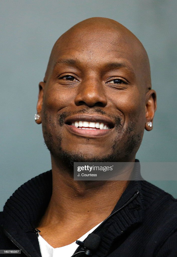 Singer/actor Tyrese Gibson onstage during a book signing for the book 'Manology: Secrets of a Man's Mind Revealed'at Barnes & Noble Union Square on February 5, 2013 in New York City.