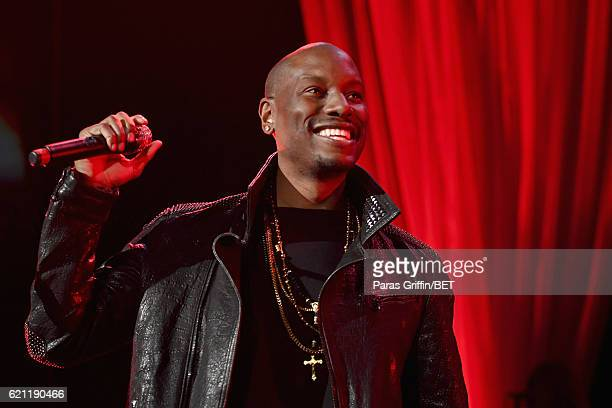 Singer/Actor Tyrese Gibson performs onstage during 2016 Soul Train Music Awards Soul Train Music Fest on November 4 2016 in Las Vegas Nevada