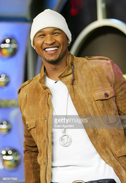 Singer/actor Usher Raymond makes an appearance on MTV's Total Request Live at MTV's Time Square Studios November 22 2005 in New York City