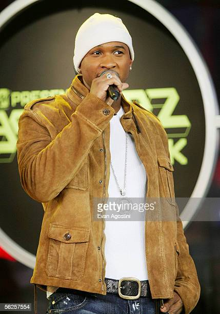 Singer/actor Usher Raymond makes an appearance on MTV's Total Request Live at MTV's Time Square Studios November 22, 2005 in New York City.