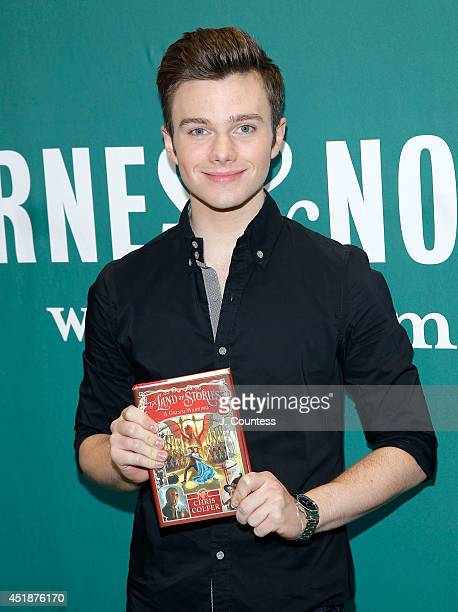 Singer/actor/author Chris Colfer poses for a photo during a visit at Barnes Noble Union Square to sign Copies Of His Book 'The Land Of Stories A...