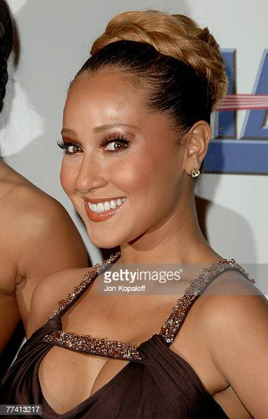"""Singer/Actress Adrienne Bailon of """"The Cheetah Girls"""" arrives at the """"2007 Spirit Of Life Awards"""" at Pacific Design Center on September 27, 2007 in..."""