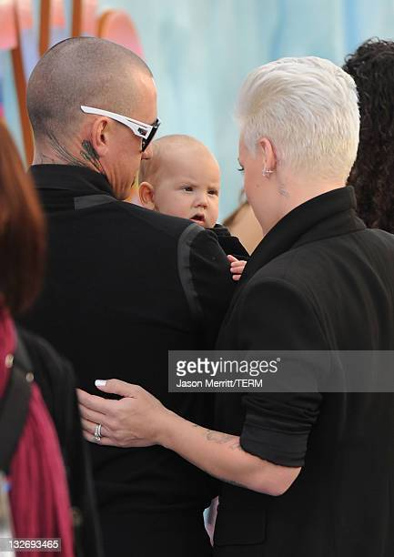 Singer/Actress Alecia Moore aka Pink Carey Hart and daughter Willow Sage Hart attend the 'Happy Feet Two' Los Angeles Premiere at Grauman's Chinese...