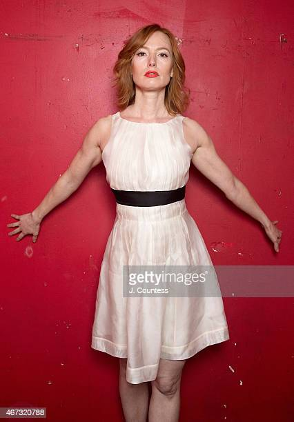 Singer/actress Alicia Witt poses for a photo backstage prior to her concert performance at The McKittrick Hotel on March 22 2015 in New York City