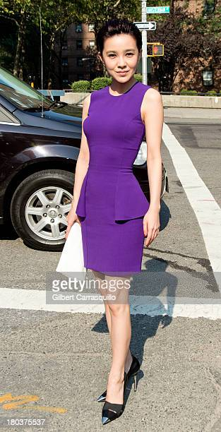 Singer/actress Amber Kuo attends 2014 MercedesBenz Fashion Week during day 7 on September 11 2013 in New York City