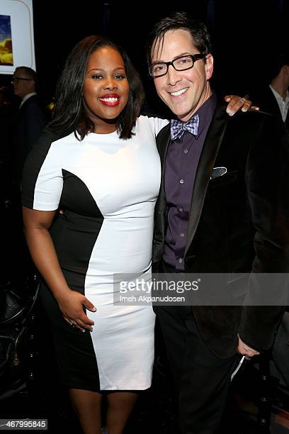 Singer/actress Amber Riley and event cochair Dan Bucatinsky attend Family Equality Council's annual Los Angeles awards dinner at The Globe Theatre on...