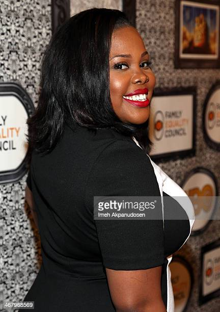 Singer/Actress Amber Riley attends Family Equality Council's annual Los Angeles awards dinner at The Globe Theatre on February 8 2014 in Universal...