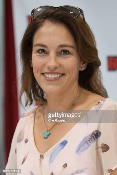 Singeractress Amy Jo Johnson attends the 2018 Fan Expo Canada at Metro Toronto Convention Centre on August 30 2018 in Toronto Canada