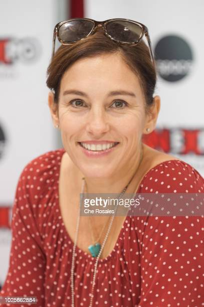 Singeractress Amy Jo Johnson attends the 2018 Fan Expo Canada at Metro Toronto Convention Centre on August 31 2018 in Toronto Canada