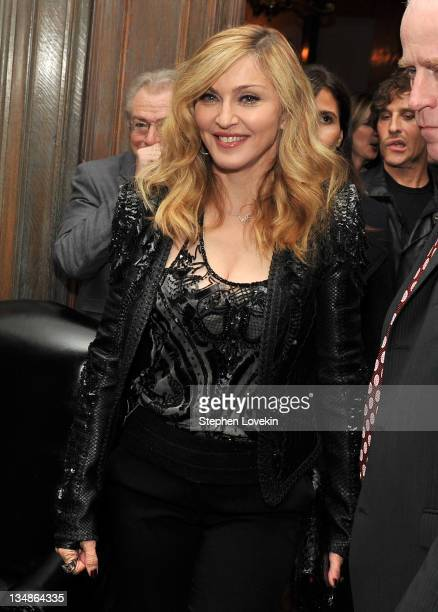 Singer/actress and director Madonna attends the after party for the Cinema Society Piaget screening of 'WE' at on December 4 2011 in New York City