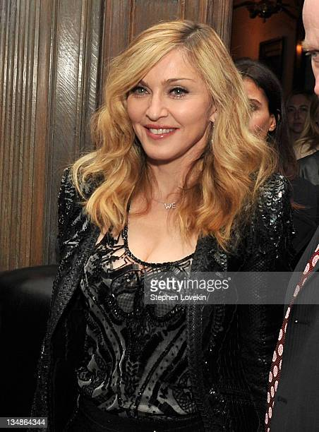 """Singer/actress and director Madonna attends the after party for the Cinema Society & Piaget screening of """"W.E."""" at Crown on December 4, 2011 in New..."""