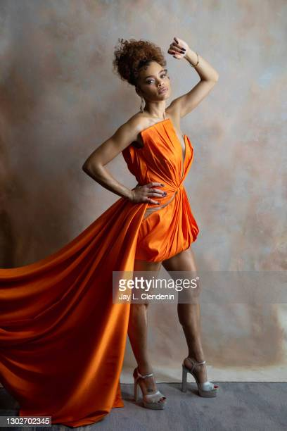 Singer/actress Andra Day is photographed for Los Angeles Times on January 14, 2021 in Beverly Hills, California. PUBLISHED IMAGE. CREDIT MUST READ:...