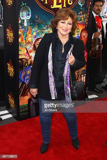 Singer/actress Angelica Maria attends 'The Book Of Life' Los Angeles premiere at Regal 14 at LA Live Downtown on October 12 2014 in Los Angeles...