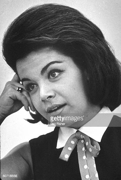 Singer/actress Annette Funicello during an interview