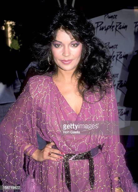 Singer/Actress Apollonia Kotero attends the Purple Rain Hollywood Premiere on July 26 1984 at Mann's Chinese Theatre in Hollywood California