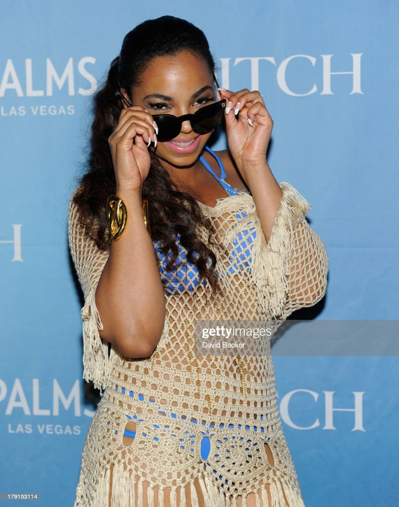 Singer/actress Ashanti arrives at 'Ditch Saturdays' at the Palms Pool & Bungalows at The Palms Casino Resort on August 31, 2013 in Las Vegas, Nevada.