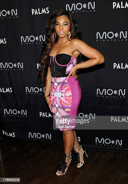"""Singer/actress Ashanti arrives at Moon nightclub at the Palms Casino Resort to celebrate Labor Day weekend and her upcoming album """"Braveheart"""" on..."""