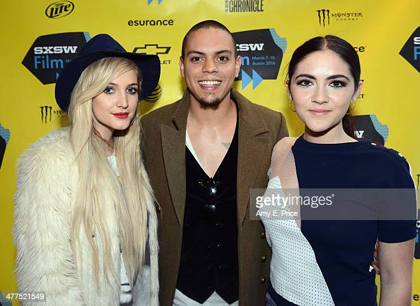 Singer/actress Ashlee Simpson actor Evan Ross and actress Isabelle Fuhrman attend 'The Wilderness of James' Photo Op and QA during the 2014 SXSW...