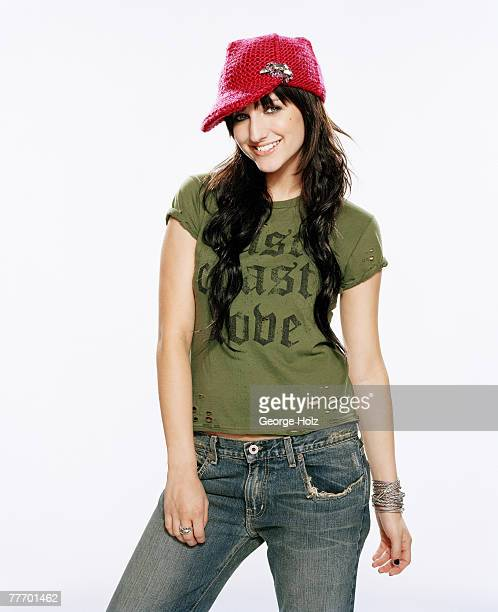 Singer/actress Ashlee Simpson is photographed for Seventeen Magazine on July 29 2004 in Sherman Oaks California PUBLISHED IMAGE