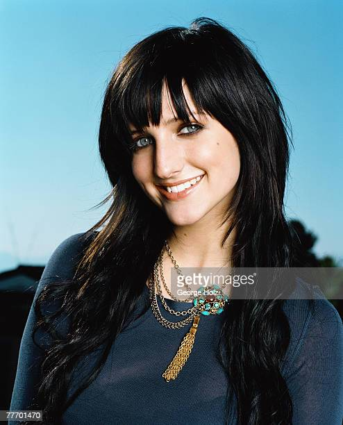 Singer/actress Ashlee Simpson is photographed for Seventeen Magazine on July 29 2004 in Sherman Oaks California