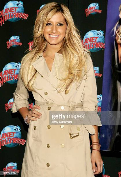 """Singer/actress Ashley Tisdale makes an appearance to celebrate the debut of her CD """"Headstrong"""" with a handprint ceremony at Planet Hollywood Times..."""