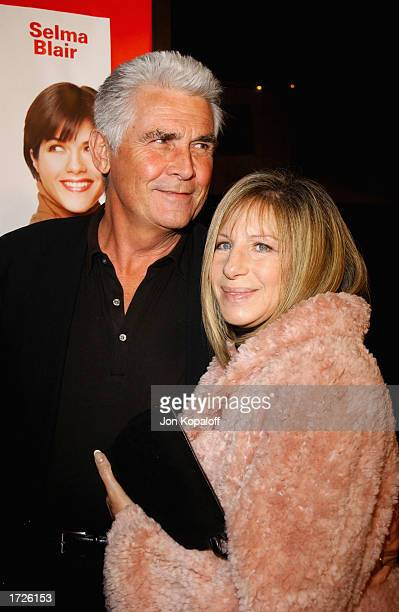 Singer/actress Barbra Streisand and husband actor James Brolin attend the premiere of A Guy Thing at Mann's Bruin Theatre on January 14 2003 in...