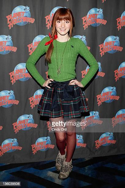 Singer/actress Bella Thorne visits Planet Hollywood Times Square on December 17 2011 in New York City