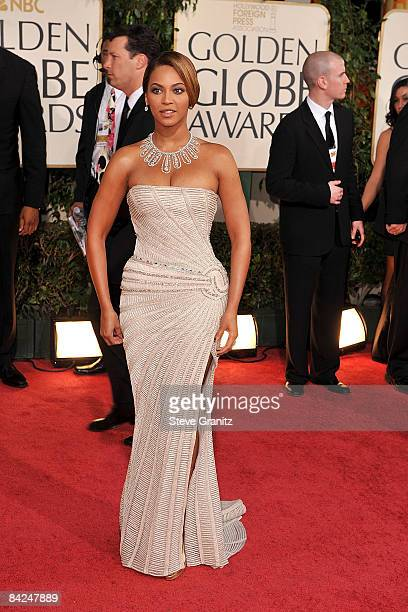 Singer/Actress Beyonce arrives at the 66th Annual Golden Globe Awards held at the Beverly Hilton Hotel on January 11 2009 in Beverly Hills California