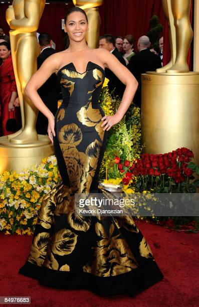 Singeractress Beyonce Knowles arrives at the 81st Annual Academy Awards held at Kodak Theatre on February 22 2009 in Los Angeles California