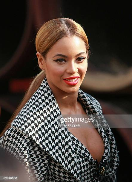 Singer/actress Beyonce Knowles attends the ceremonial groundbreaking for Barclays Center at Atlantic Yards on March 11 2010 in New York City