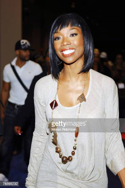 Singer/Actress Brandy appears at the kick off of Pro10 Hair made with Ultima's New 2008 Hairstyle Collection at the Washington D.C. Convention Center...