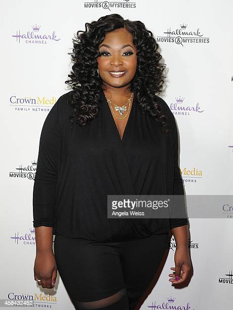 Singer/actress Candice Glover arrives at Hallmark Channel's annual holiday event premiere screening of Northpole at La Piazza Restaurant on November...