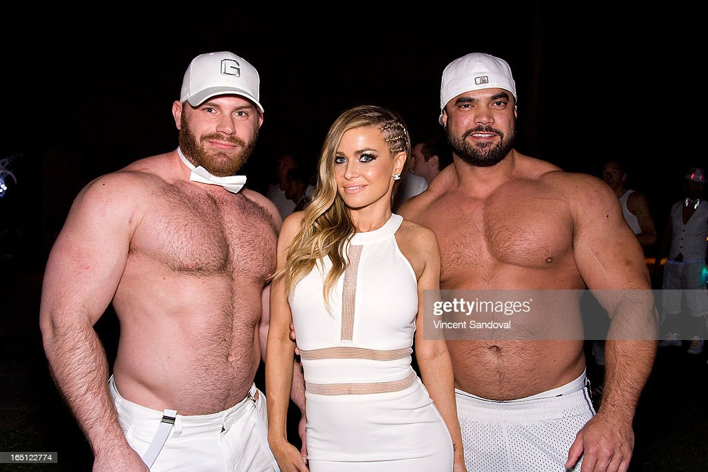 Singer/actress Carmen Electra (C) attends The White Party during Jeffrey Sanker Presents White Party Palm Springs 2013 - Day 2 at the Convention Center on March 30, 2013 in Palm Springs, California.