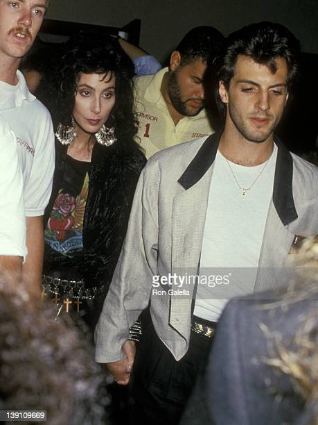 Singer/Actress Cher and boyfriend Rob Camilletti attend the Fifth Annual MTV Video Music Awards on September 7 1988 at Universal Amphitheatre in...