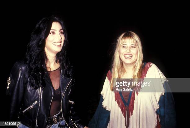 Singer/Actress Cher and daughter Chastity Bono attend Richie Sambora's Stranger in This Town Album Release Party on September 4 1991 at Griffith Park...