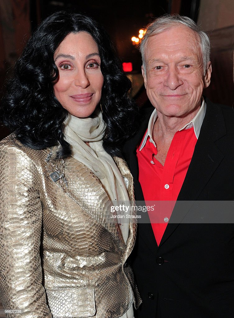 Singer/actress Cher and Hugh Hefner attend the TCM Classic Film Festival Vanity Fair after party held at Kress on April 22, 2010 in Hollywood, California. 19825_007_JS_0101.JPG