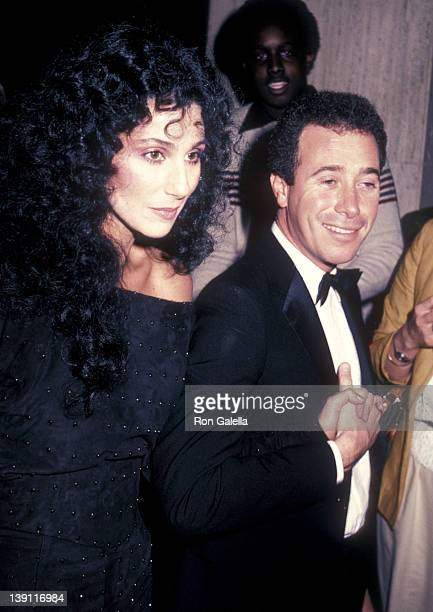 Singer/Actress Cher and producer David Geffen attend the 'Dreamgirls' Opening Night Performance on March 20 1983 at Shubert Theatre in Century City...