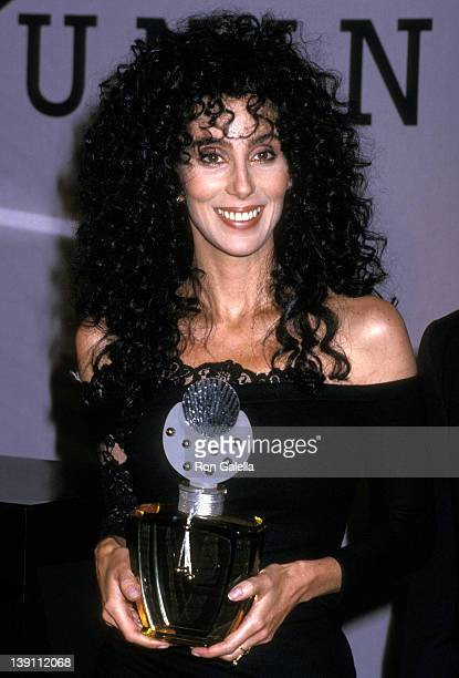 Singer/Actress Cher announces the launch of her new fragrance Uninhibited on August 10 1988 at The Plaza Hotel in New York City