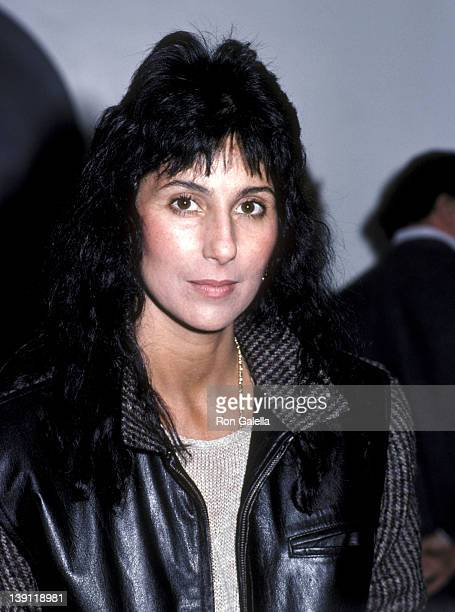 Singer/Actress Cher attends a question and answer session with UCLA students on January 19 1983 at University of California Los Angeles in Westwood...