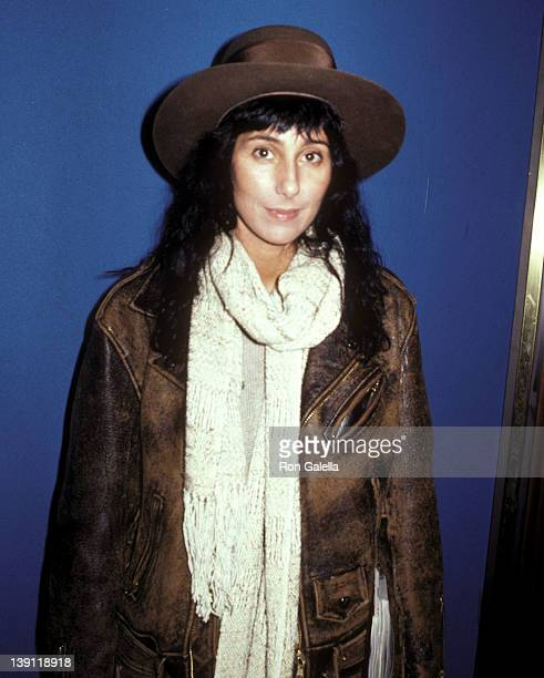 Singer/Actress Cher attends Sonny Bono's New Restaurant Bono Grand Opening Celebration on February 2 1983 at Bono in West Hollywood California