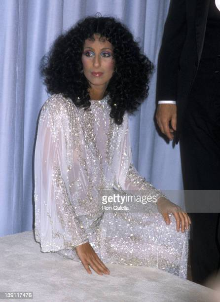 Singer/Actress Cher attends the 55th Annual Academy Awards on April 11 1983 at Dorothy Chandler Pavilion Los Angeles Music Center in Los Angeles...