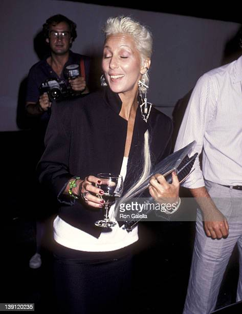 Singer/Actress Cher attends the 'Amadeus' Westwood Premiere on September 6 1984 at UA Coronet Theater in Westwood California