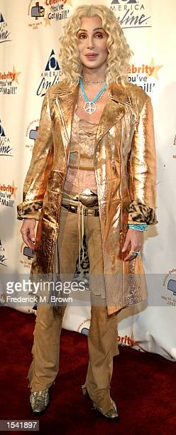 Singer/actress Cher attends the America Online party to launch its 2002 'Celebrity You''ve Got Mail' campaign May14 2002 in Los Angeles CA