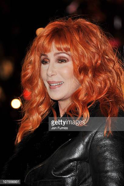 Singer/actress Cher attends the 'Burlesque' UK premiere at the Empire Leicester Square on December 13 2010 in London England
