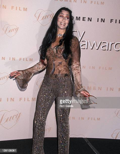 Singer/Actress Cher attends the Seventh Annual Women in Film Lucy Awards on September 8 2000 at Beverly Hilton Hotel in Beverly Hills California