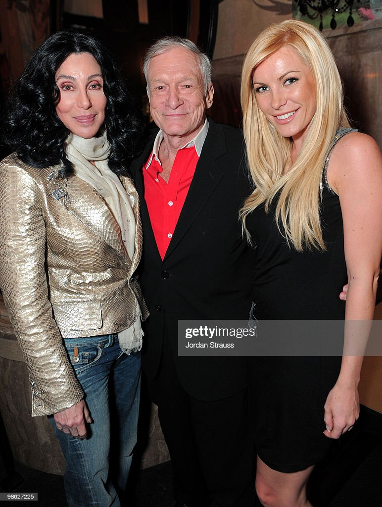 Singer/actress Cher, Hugh Hefner and Crystal Harris attend the TCM Classic Film Festival Vanity Fair after party held at Kress on April 22, 2010 in Hollywood, California. 19825_007_JS_0101.JPG