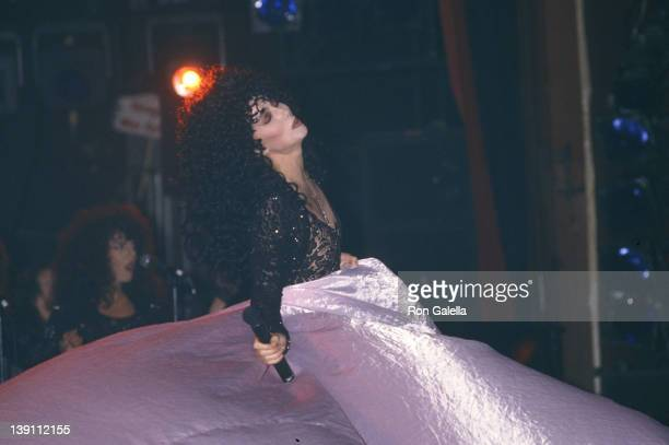 Singer/Actress Cher performs in concert on August 17 1989 at the Sands Casino Hotel in Atlantic City New Jersey